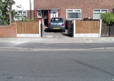 Liverpool Fencing and Driveway Project